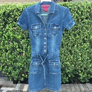 Hot Kiss Denim Jeans Dress With Pockets Size XS